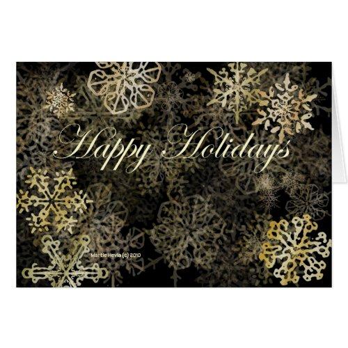 'Happy Holidays' Snowflakes Card card