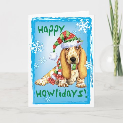 Happy Howliday Basset Holiday Card