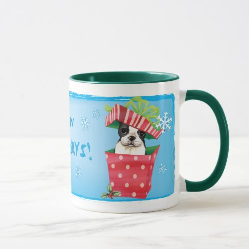 Happy Howliday Boston Mug
