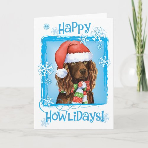 Happy Howliday Boykin Spaniel Holiday Card