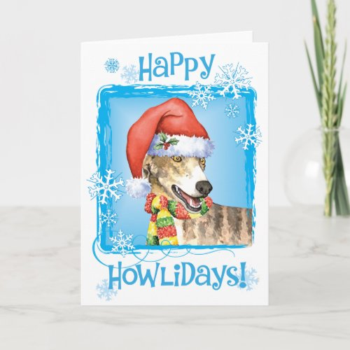Happy Howliday Greyhound Holiday Card