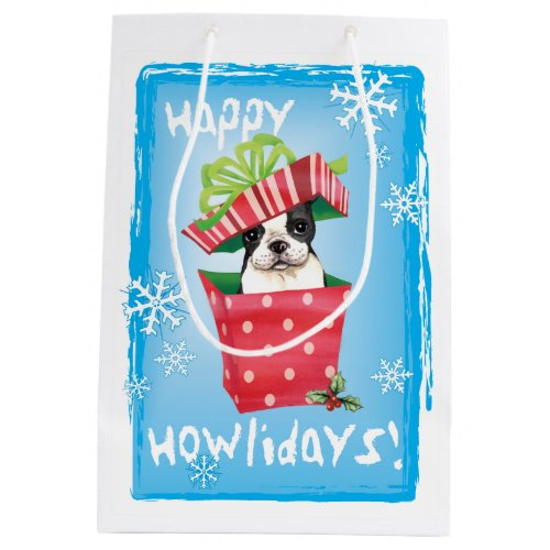 Happy Howlidays Boston Medium Gift Bag