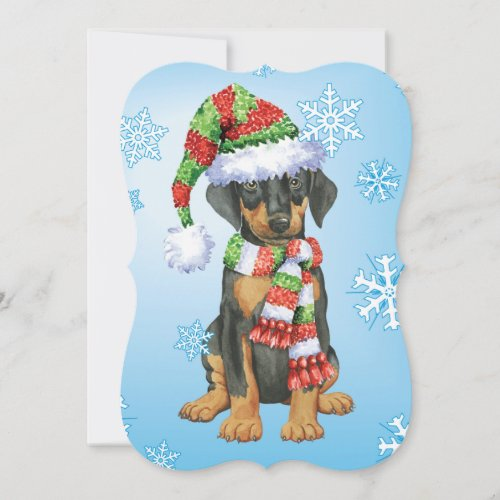 Happy Howlidays Doberman Holiday Card
