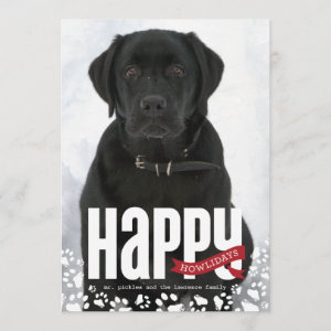 Happy Howlidays Pet Christmas Photo Card