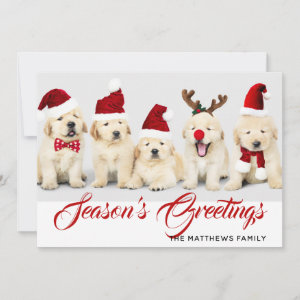 Happy Howlidays Season's Greetings Photo Christmas Holiday Card