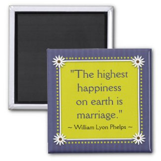 Happy Marriage Quotes Magnet magnet