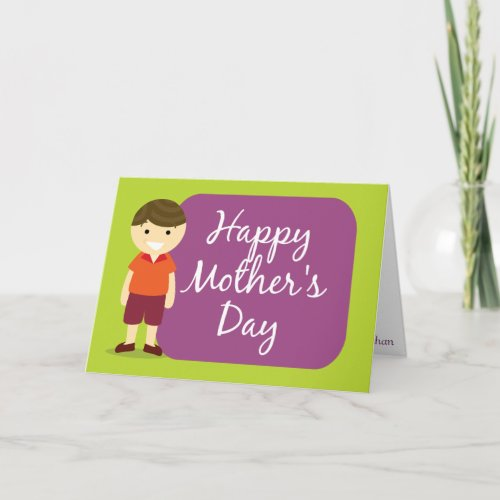 Happy Mother's Day from your son zazzle_card