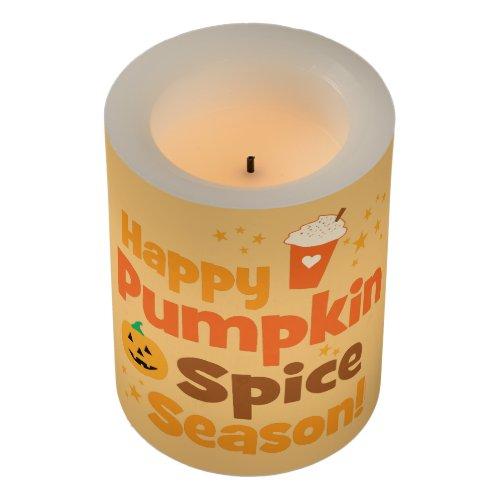 Happy Pumpkin Spice Season Flameless Candle