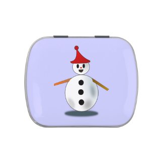 Happy S nowman Candy Tin