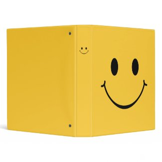 Happy Smiley Face binder binder