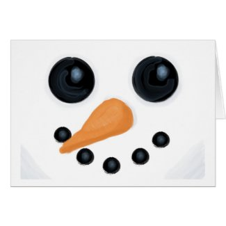Happy Snowman Face Card