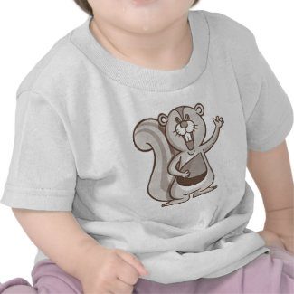 Happy Squirrel T-shirts