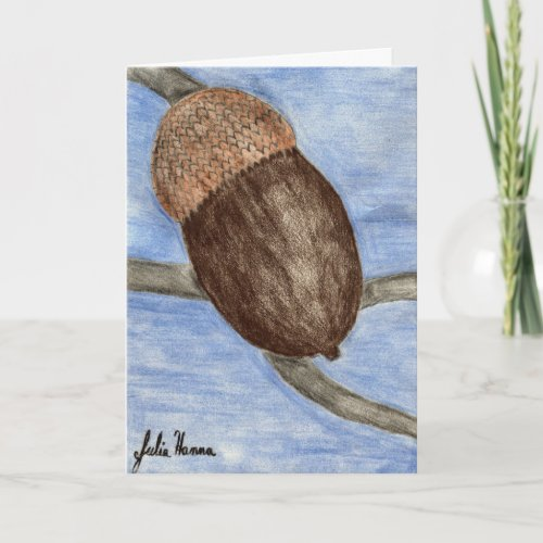 Happy Thanksgiving Acorn Card card