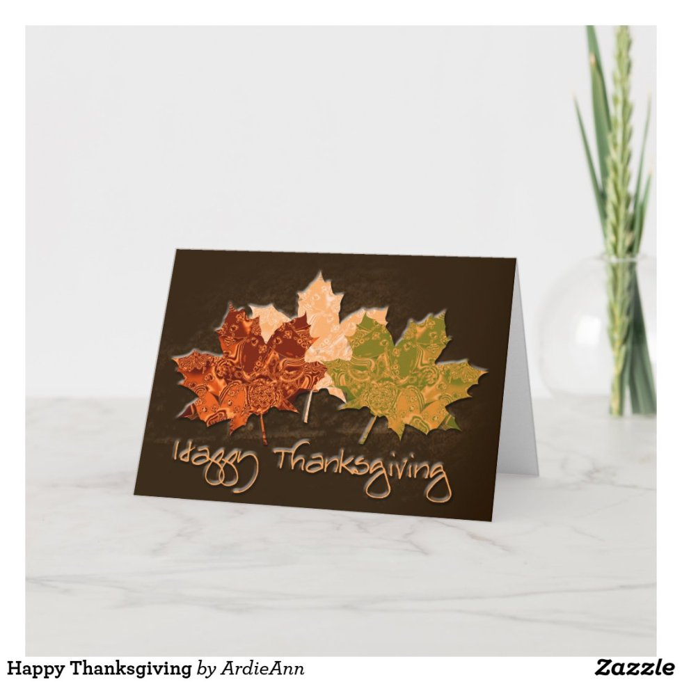 Happy Thanksgiving Holiday Card