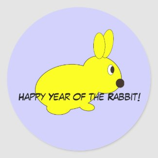 Happy Year of the Rabbit! sticker