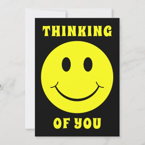 Happy Yellow Face Thinking of You Card