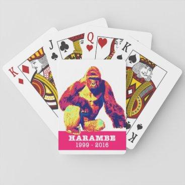Harambe Playing Cards