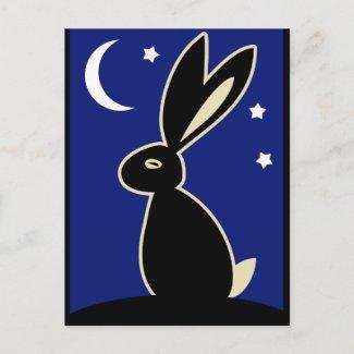 Hare at Twilight postcard