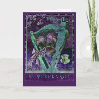 Harp of Erin Greeting Card