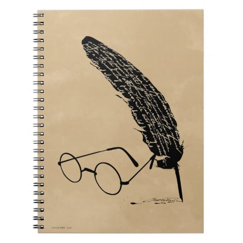 HARRY POTTER™ Glasses And Quill Spiral Notebook
