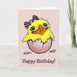 Cute Baby Chick Happy Birthday Card