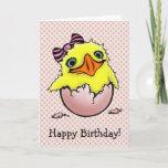 Cute Baby Chick Happy Birthday Card