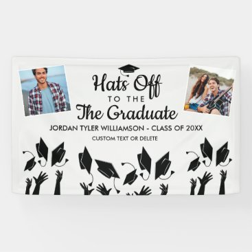 Hats off to the Grad Graduation Photos Party Sign