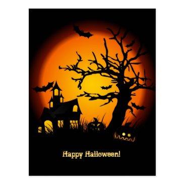 Haunted House Halloween Postacard Postcard