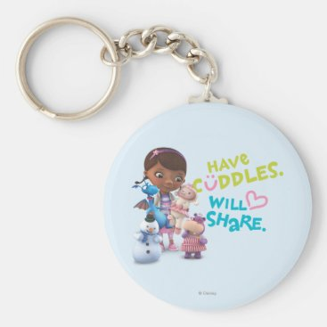 Have Cuddles Will Share Keychain