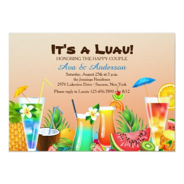Hawaiian Luau Invitation