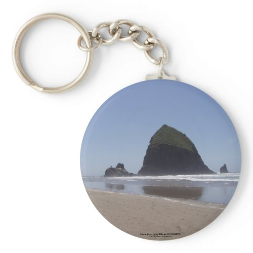 Haystack Rock keychain