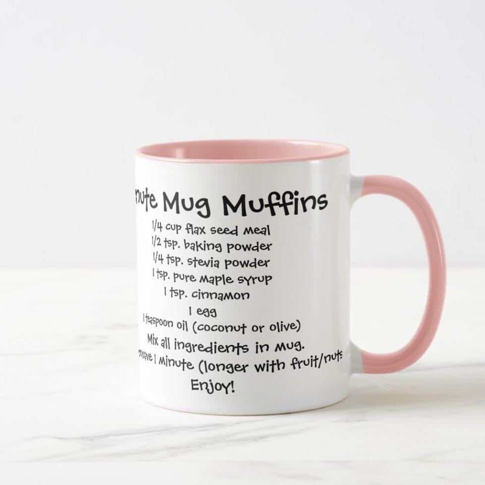 Healthy Minute Muffin Recipe Mug