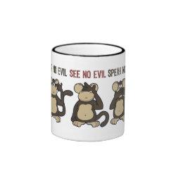 Hear No Evil Monkeys - New Ringer Mug