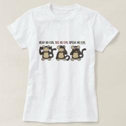 Hear No Evil Monkeys - New Shirt