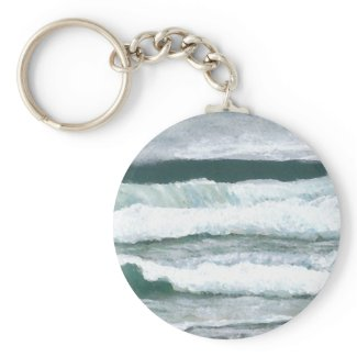 Hearing the Waves Crash - CricketDiane Ocean Art zazzle_keychain