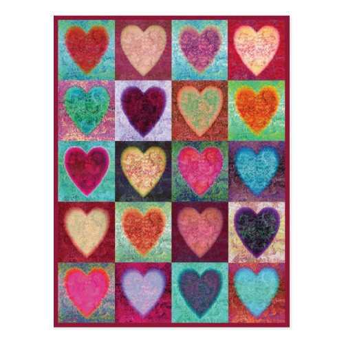 Heart Art Tiles Postcard