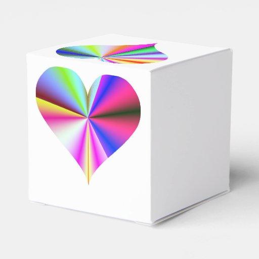 Heart Box Rainbow Wedding Favor Party Favor Box