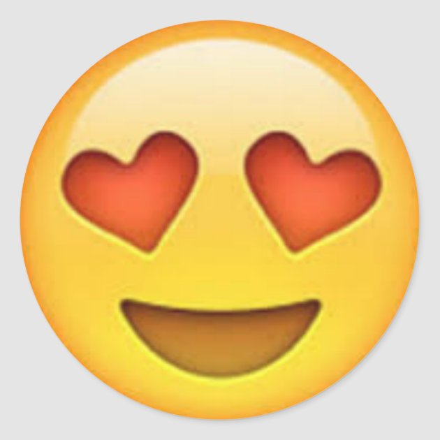 Heart Eyes Emoji Sticker Zazzle