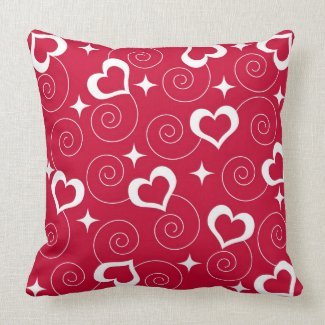 Hearts and Stars throwpillow