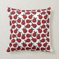 Hearts Ladybug Pillow