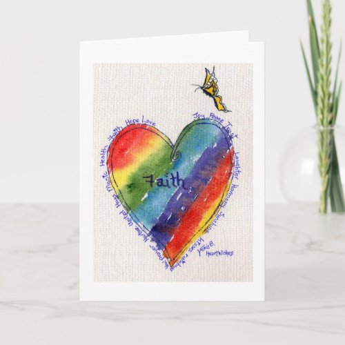 Heartwishes with Yellow Butterfly Card
