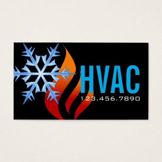 Heating Amp Cooling Air Conditioning HVAC Business Card