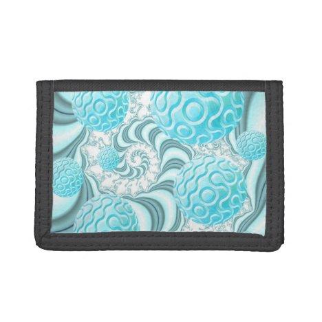 Heavenly Sea Shells, Abstract Pastel Beach Tri-fold Wallet