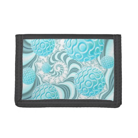 Heavenly Sea Shells, Abstract Pastel Beach Tri-fold Wallet