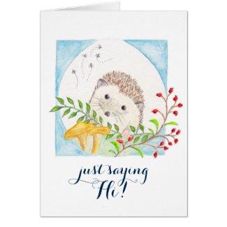 Hedgeghog greeting card