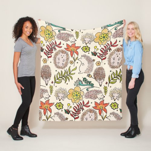 Hedghog Field Fleece Blanket