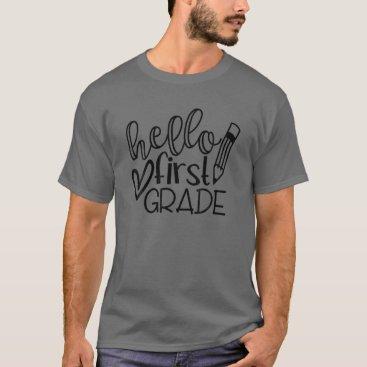 Hello 1St Grade Teacher Back To School T-Shirt