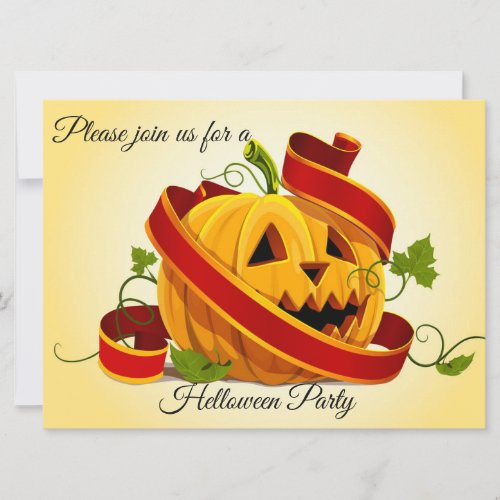 Pretty Helloween Party Invitation by Basil2016