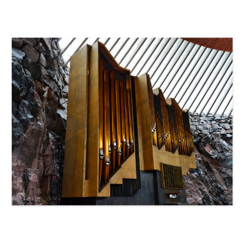 Helsinki, Finland, Rock Church Organ Postcard