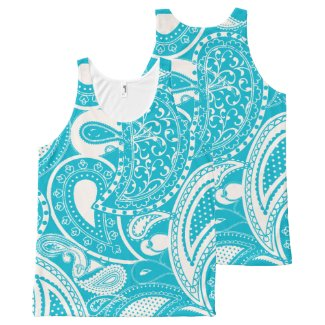 Henna Tattoo paisley pattern All-Over Print Tank Top